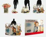 Faltdisplay Messewand 1x3 textil