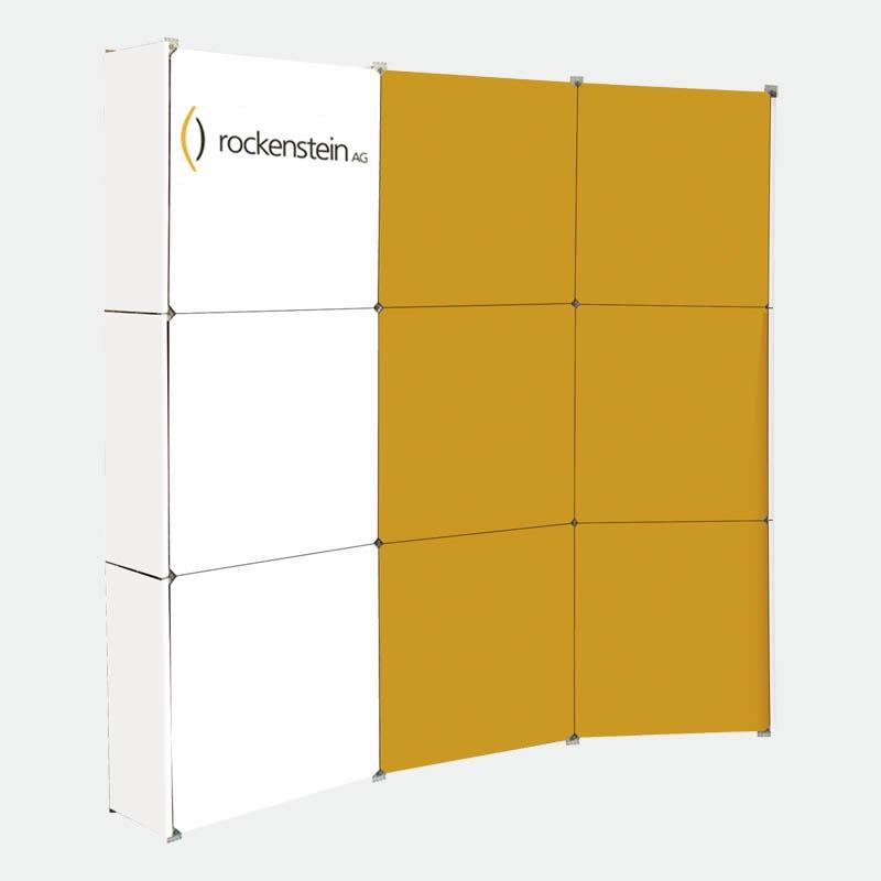 Faltdisplay Messewand 3x3